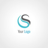 Fototapety round letter S abstract logo