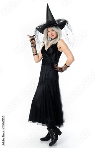 Plakát smiling beautiful witch