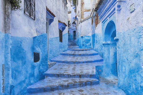 Fotobehang Marokko ciudades del mundo, Chefchaouen en Marruecos