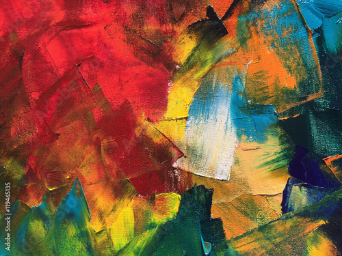 Abstract oil painting background. Palette knife paint texture. Hand painted modern art concept. © shvets_tetiana