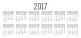 Vector Simple 2017 year calendar - 119467998