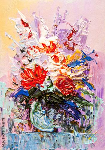 Obraz Oil painting flowers