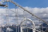 Design roller coaster against the sky