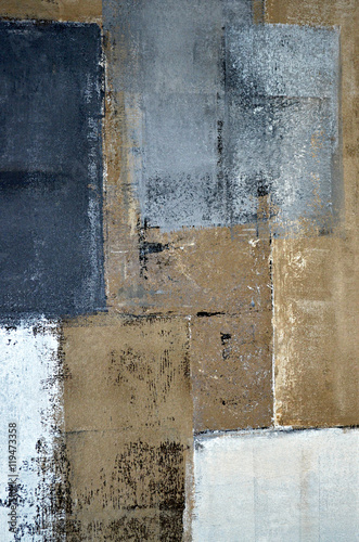 Neutral Abstract Art Painting - 119473358