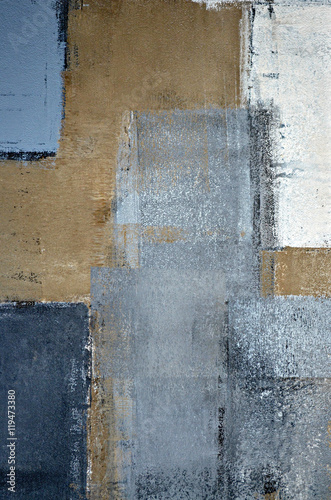 Neutral Abstract Art Painting - 119473380