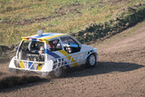 "Car during a ""stock car cross"" free demostration."