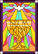 Stained Glass Chalice Dove