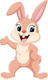 Fototapety Cute rabbit cartoon waving hand