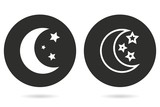 Moon star vector icon.