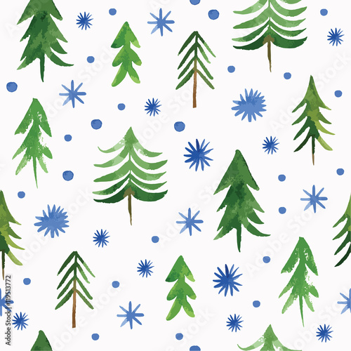 Materiał do szycia Christmas seamless pattern