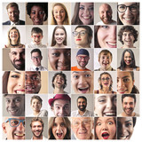Portraits of smiling people
