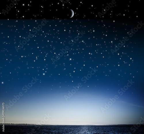 Poster sternnehimmel über Wasser
