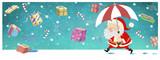 Santa Claus con regalos de navidad