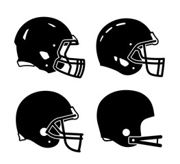 Football helmet sports icon symbols