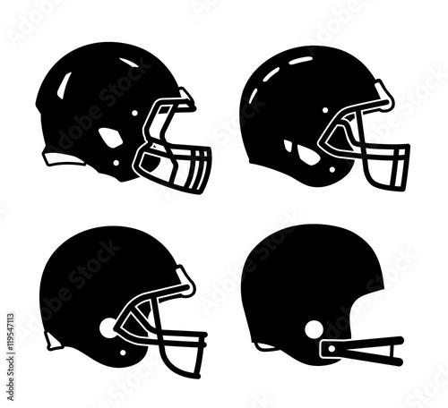 Football helmet sports icon symbols