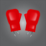 boxing design red boxing gloves. illustration vector.