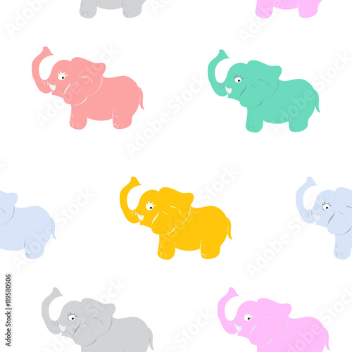 Zdjęcia African   elephant   baby animal Seamless Pattern