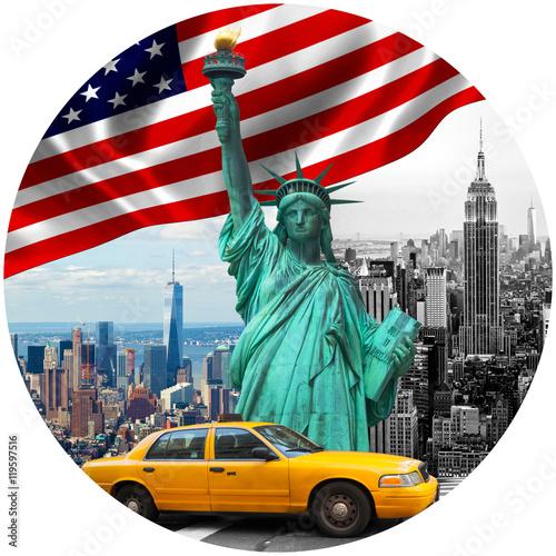 Foto op Plexiglas New York TAXI Symbols of New York City