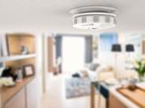 smoke detector on ceiling - 119607985