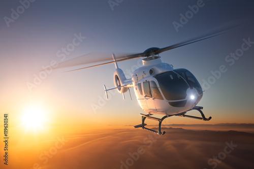 Helikopter w locie