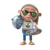 3d Hippie stoner offers a VIP service
