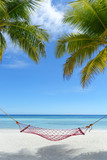 Hammock on a perfect paradise beach - Bohol, Philippines - 119680729