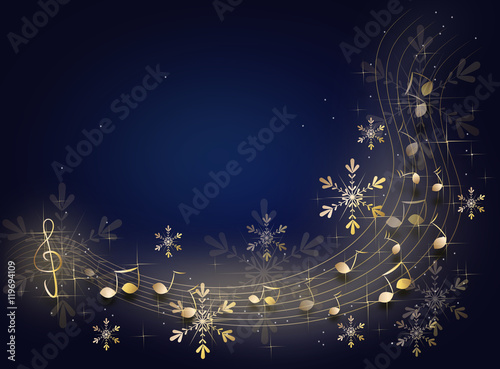 christmas music background