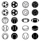 Vector Sport Balls and equipment Illustrations
