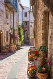 Tipico ristorante italiano nel vicolo storico