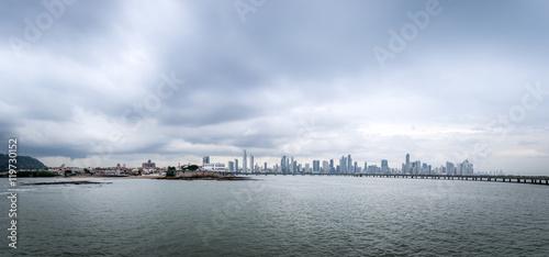 Panoramic view of old and new Panama City - Panama City, Panama © diegograndi
