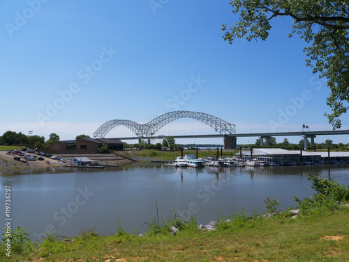 Poster Memphis Visitors Centre Tennessee USA by the Mississippi River and the Dolly Par