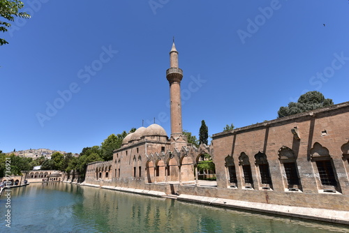 Poster The pool of Abraham, known as Balikli Gol in Turkish is a major landmark of the