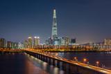 Seoul Subway and Seoul City Skyline, South korea.Seoul. Subway a