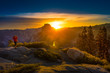 Photographer Taking pictures of Sunrise Yosemite National Park G