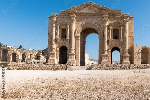 Poster Adrian's Gate in  Jerash, Jordan