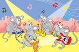 Mice musicians. Vector