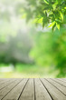 Fresh nature background and empty wooden.