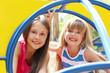 Portrait of childrens having fun on the playground