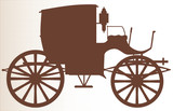 Old Brown Carriage Wall Sticker