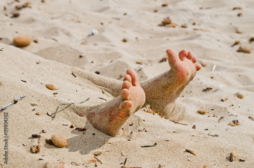 Poster rigor mortis on the beach