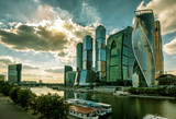 Modern buildings in downtown of Moscow