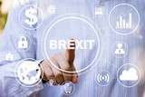 Business button brexit connection icon network