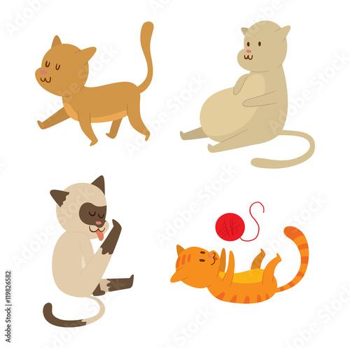 Poster Pony Cartoon vector cat character