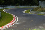 View from the pole position in a racetrack. - 119828726