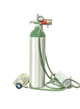 oxygen cylinder add clipping path