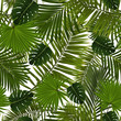 Cotton fabric Seamless palm leaves pattern