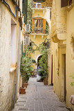 Greece, Chania.view of cozy narrow streets