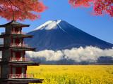 3d rendering Mt. Fuji with fall colors in Japan