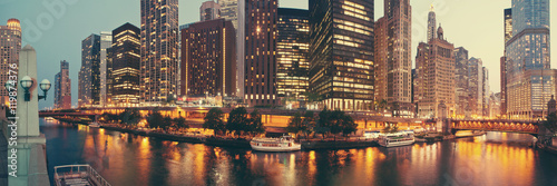 Poster Chicago Panorama of Chicago, Illinois.