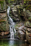Waterfall in Karkonosze Mountains in Poland